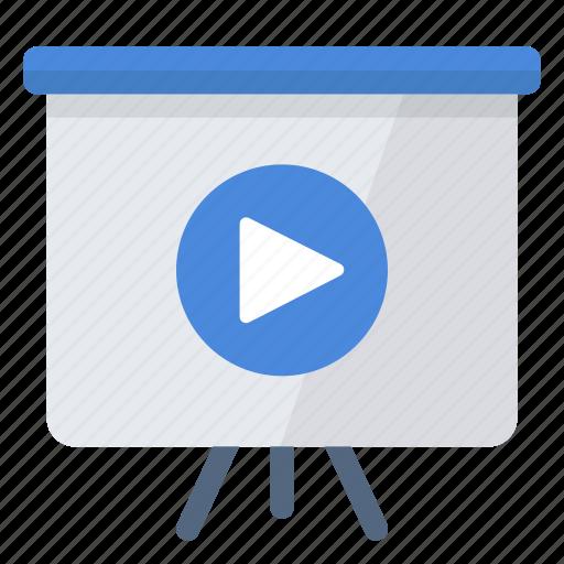 media, play, presentation, slideshow icon