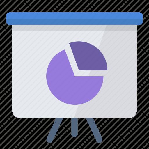 analytics, charts, graph, graphics, pie-charts, slideshow icon