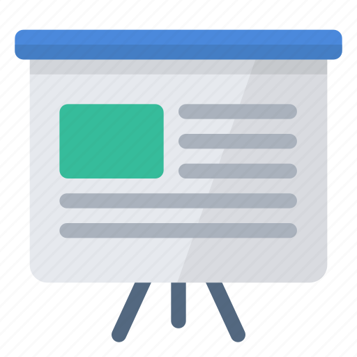 informative, report, slideshow, summary icon