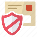 antivirus, mail, security, shield icon