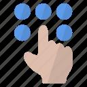 code, dot, enter, security icon