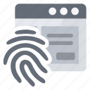 access, application, fingerprint, security icon
