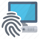 access, computer, fingerprint, security icon