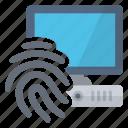 access, computer, fingerprint, security
