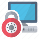closed, computer, lock, security icon