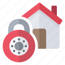 closed, copy, home, lock, security icon