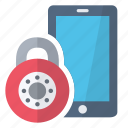 closed, lock, phone, security icon