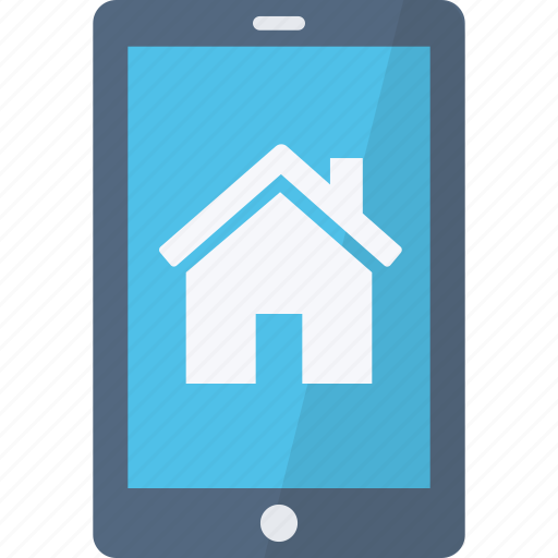 application, home, phone, security icon