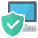 computer, secure, security, valid icon