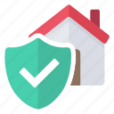 home, secure, security, valid icon