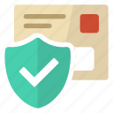 mail, secure, security, valid icon