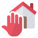 alert, home, security, stop icon
