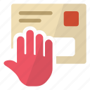 alert, mail, security, stop icon