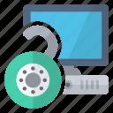 computer, open, security, unlock icon