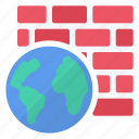 firewall, internet, security, software icon