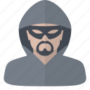 computer hacker, hacker, people, security icon