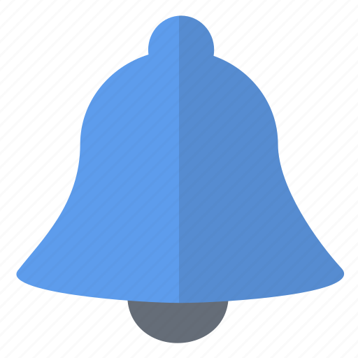 alarm, bell, blue, full, security icon