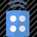 alarm, blue, control, remote, security icon