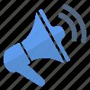 alert, loudspeaker, security, sound icon