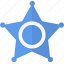 blue, police, security, star icon