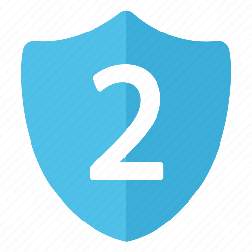 blue, level, level two, security, shield icon