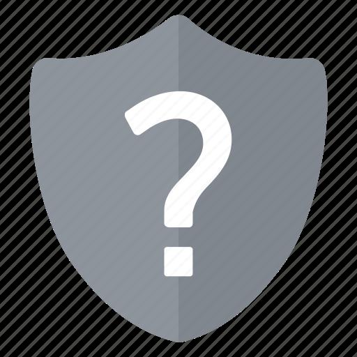 grey, security, shield, unknown icon