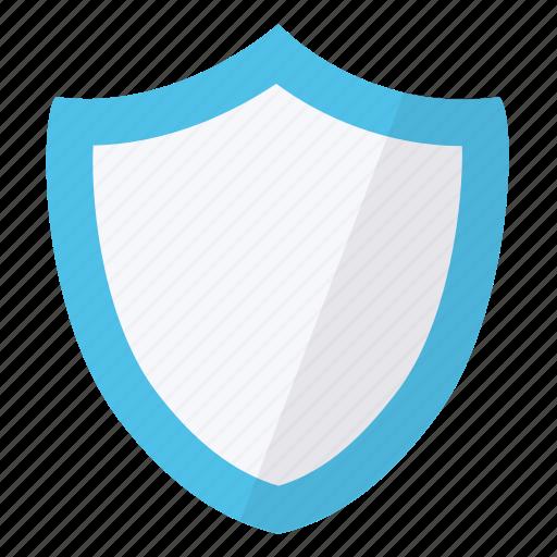 contour, cyan, security, shield icon