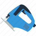 design, electric, jigsaw, saw, tool, workshop icon