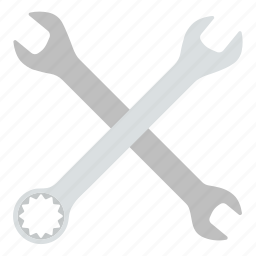 crossed, design, mechanic, tool, workshop, wrench icon