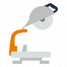 circular, design, electric, saw, tool, workshop icon