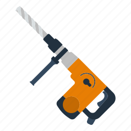 design, drill, electric, perforator, tool, workshop icon