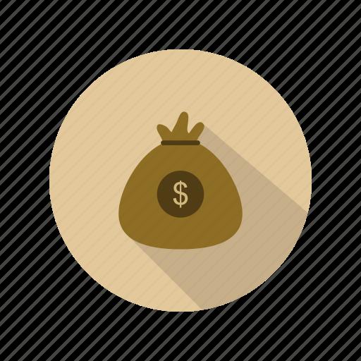 bag, currency, dollar, money icon