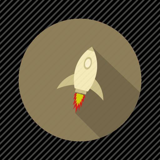design, illustration, isolated, launch, rocket icon