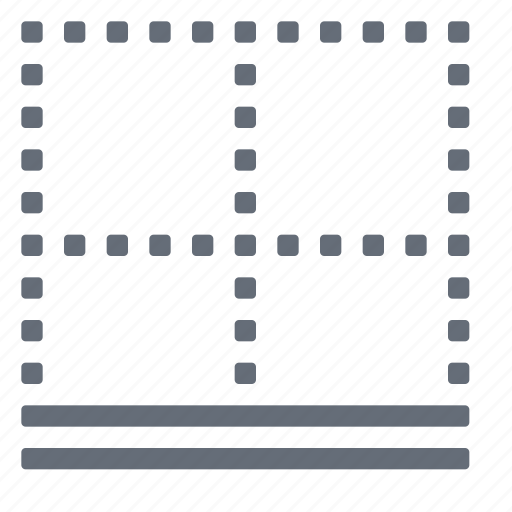 border, bottom, double icon