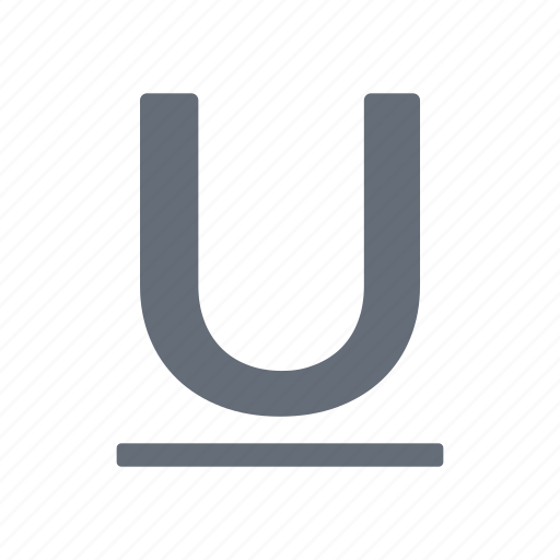 character, small, underline icon