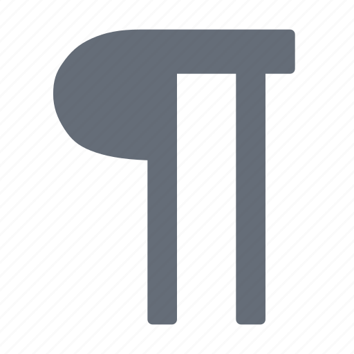 Large, marker, paragraph, structure icon