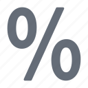 decrease, increase, large, percentage, reduction, view icon