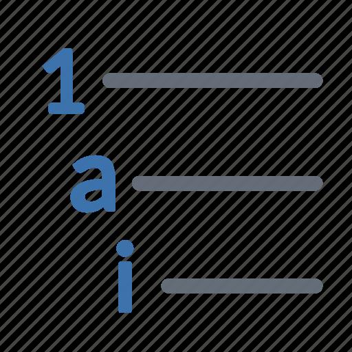 list, multilevel icon