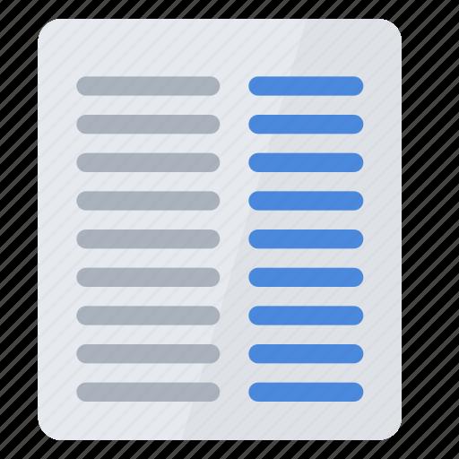 column, right icon