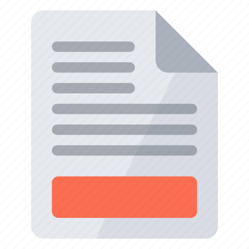 document, footer icon