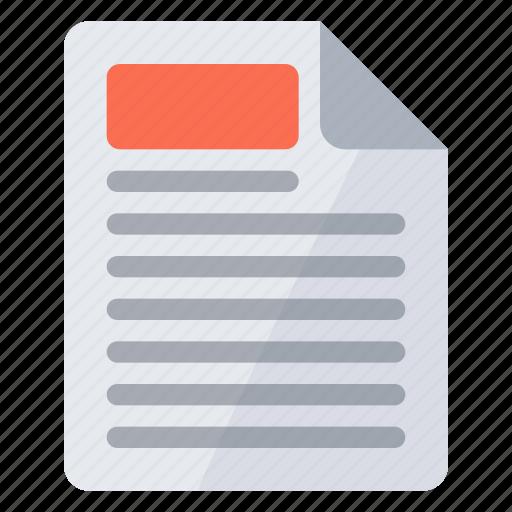 document, header icon