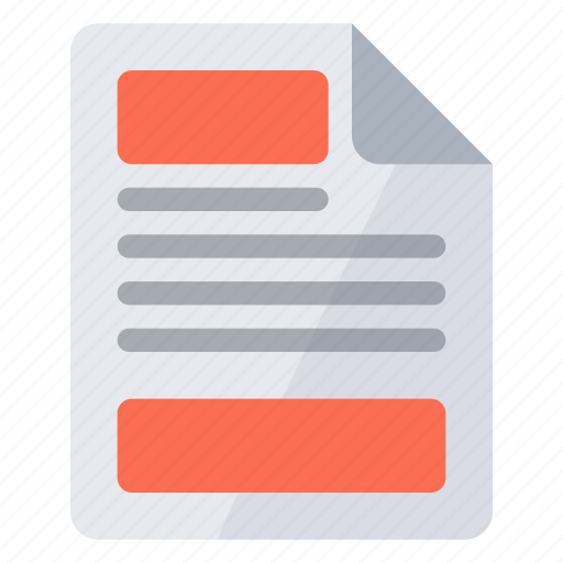 document, footer, header icon
