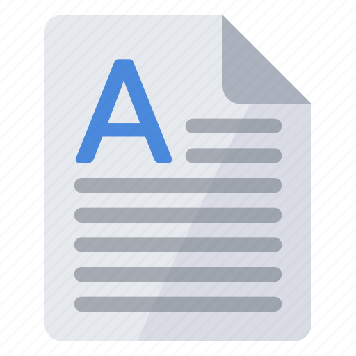 a, article, beginning, document, text icon