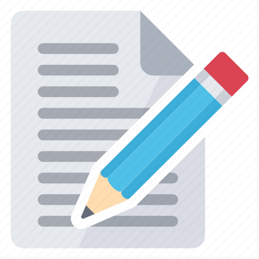 Write, text, document, modify icon