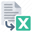 cells, document, excel, export, from, spreadsheet icon