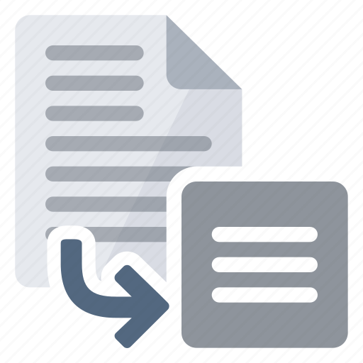 document, export, from, text icon