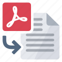 document, import, pdf, to icon