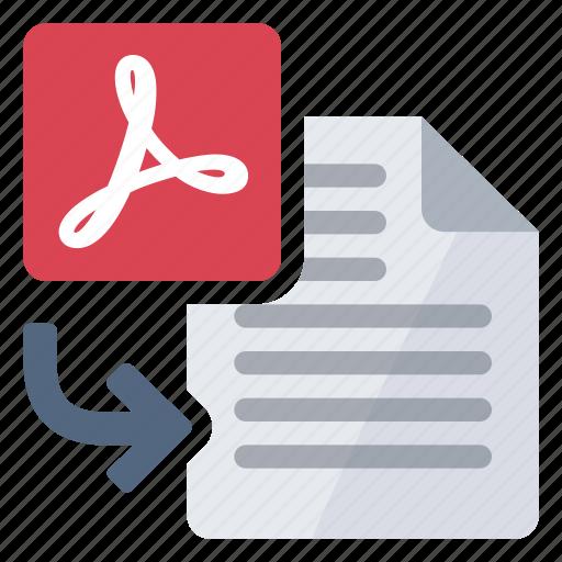 document, import, pdf, to icon