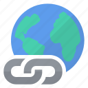 hyperlink, planet, world icon