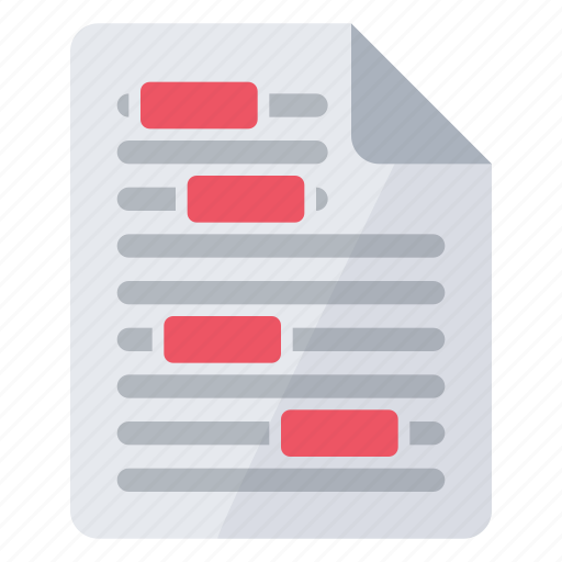 check, correction, document, file, read, review icon
